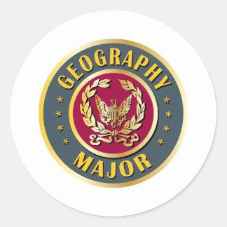 Geography Major Round Sticker