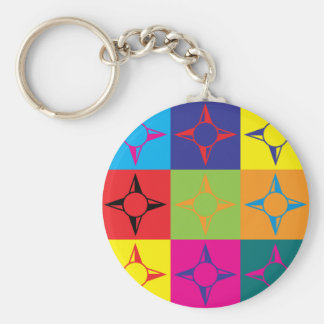 Geography Pop Art Keychain