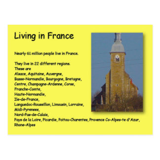 Geography, Social Studies, Living in France Postcard