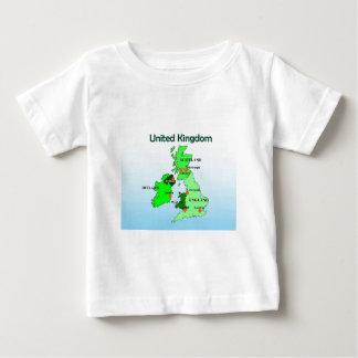 Geography, Social Studies, United Kingdom, Map Baby T-Shirt
