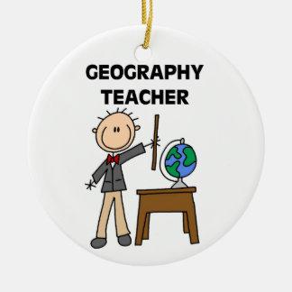 Geography Teacher Ceramic Ornament