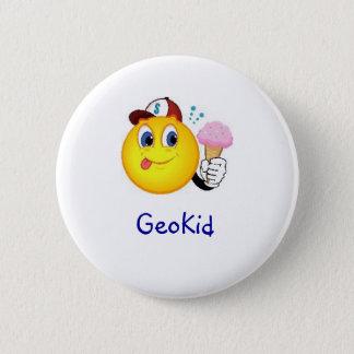 GeoKid Boy with Ice Cream Geocaching Swag Pin