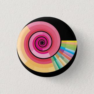 Geologic timescale spiral 1 inch round button