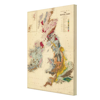 Geological map, British Isles Canvas Print