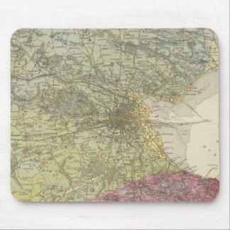 Geological map Dublin Mouse Pad