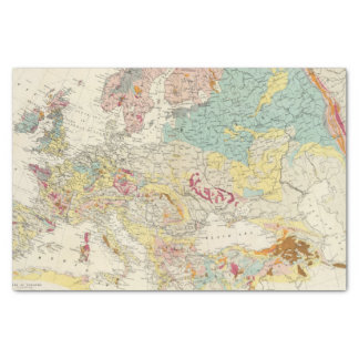 Geological map Europe Tissue Paper