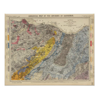 Geological map of Edinburgh Poster