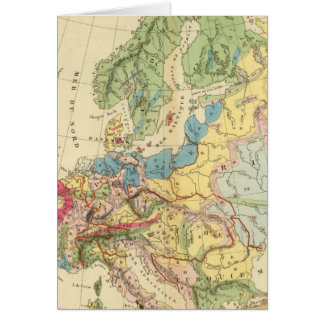 Geological Map of Europe Card