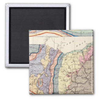Geological map of Ohio Square Magnet