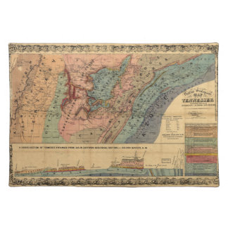 Geological Map of Tennessee (1866) Placemats