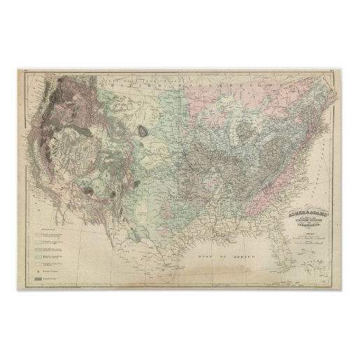 Geological Map of the United States Poster