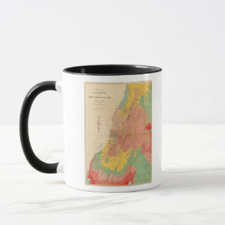 Geological map of Utah Mug