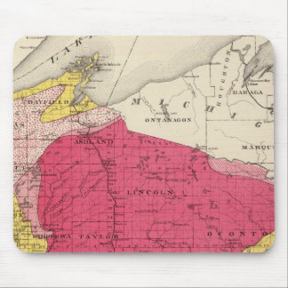 Geological map of Wisconsin Mouse Pad