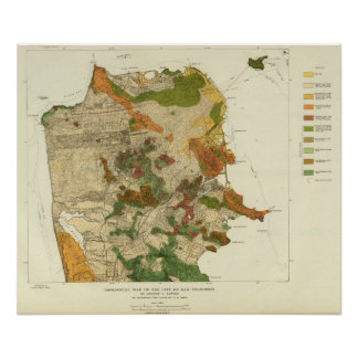 Geological map San Francisco Poster