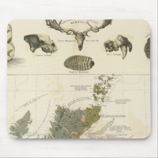 Geological, palaeontological map British Islands Mouse Pad
