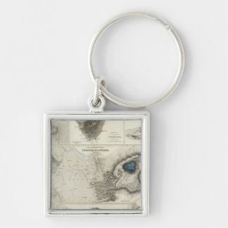 Geological phenomena Silver-Colored square keychain