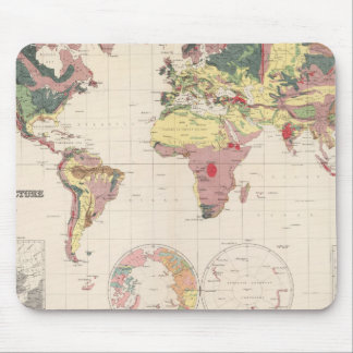 Geological structure of globe mouse pad