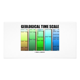 Geological Time Scale (Geological Age) Customized Photo Card