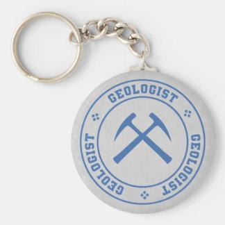 Geologist Basic Round Button Keychain