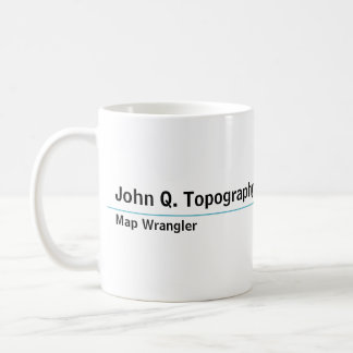 Geologist, Cartographer Topographic Map Coffee Mug