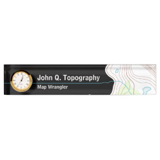 Geologist, Cartographer Topographic Map Nameplate