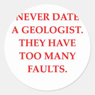 GEOLOGIST CLASSIC ROUND STICKER