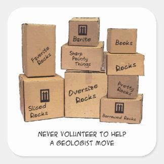 Geologist Moving Humor Sticker