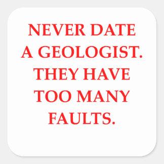 GEOLOGIST SQUARE STICKER