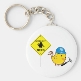 Geologist Xing Basic Round Button Keychain