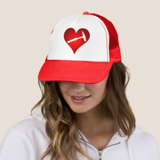 Geologist's Heart and Rock Hammer Trucker Hat