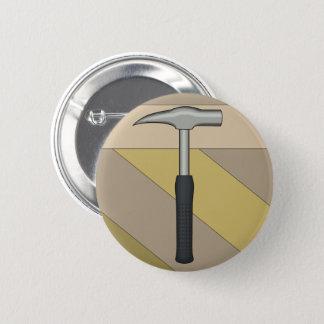 Geologist's Rock Hammer 2 Inch Round Button