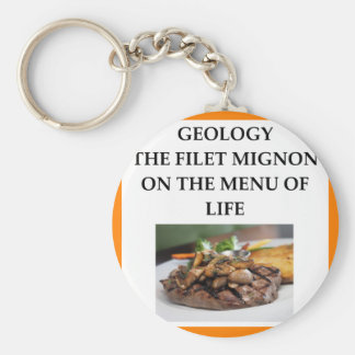 GEOLOGY BASIC ROUND BUTTON KEYCHAIN