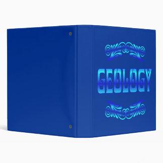 GEOLOGY BINDERS