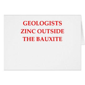 geology card
