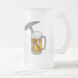 Geology Department Drinking Crew Frosted Glass Beer Mug