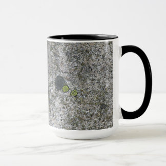 Geology Granite Rock Texture with Moss any Name Mug