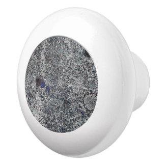 Geology Grey Granite Blue Details Ceramic Knob