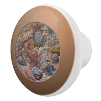 Geology Grungy Sedemantary Rock Texture Ceramic Knob