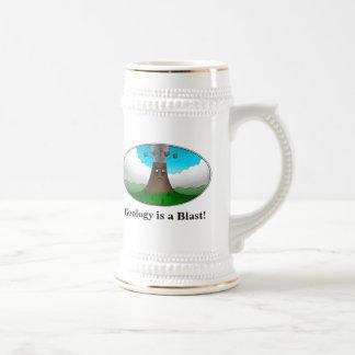Geology is a Blast!  Cartoon Volcano Beer Stein