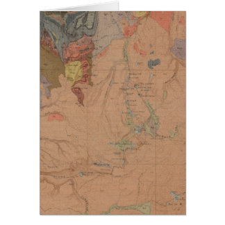 Geology Map, Yellowstone National Part, Wyoming Card