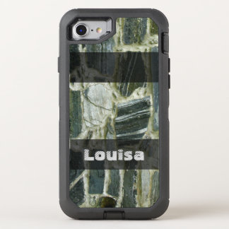Geology Old Stone Wall Structure any Text OtterBox Defender iPhone 7 Case