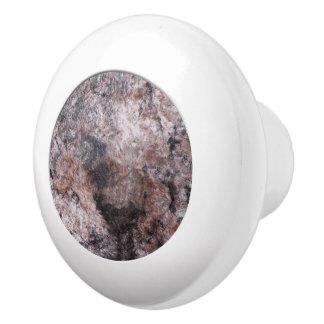 Geology Pink Rock Texture Ceramic Knob