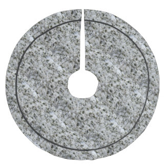 Geology Rock White Granite Brushed Polyester Tree Skirt