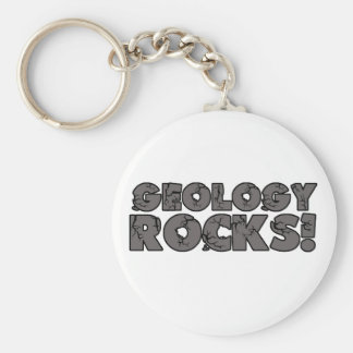 Geology Rocks Basic Round Button Keychain
