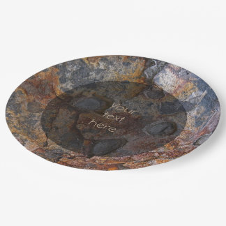 Geology Sedementary Rock Surface any Text 9 Inch Paper Plate