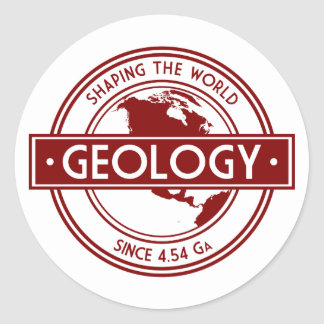 Geology- Shaping the World Logo (North America) Round Sticker