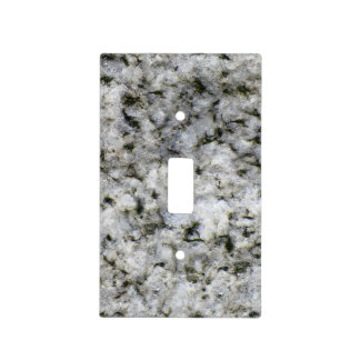 Geology White Granite Rock Texture Light Switch Cover