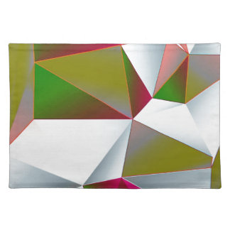 Geometric 02 green placemat