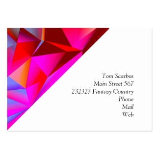 geometric 05 hot business cards