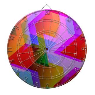 geometric 06 pink dart board